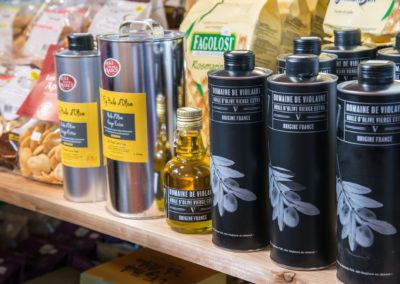 Large gamme d'huiles d'Olive artisanales, fruité vert, goût à l'ancienne, BIO, AOP...